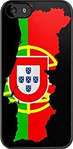 SUUER Portugal Flag and Map Custom Hard CASE for iPhone 5 5s Durable Case Cover by lolosakes