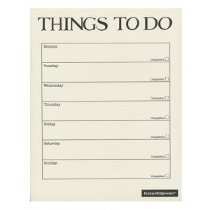 emma bridgewater black toast 7 day to do list