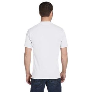 Hanes Men's Tagless ComfortSoft Crewneck T-Shirt (Pack Of 5) (White, Large Tall)