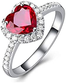 Natural Ruby Gemstone Ring Engagement Flower Ring Size 3 to 15 Lovely Ring 925 Sterling Silver Ring,Wedding Ring Anniversary Ring