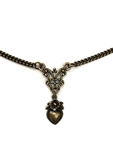 - I.Love.Vintage Jewelry (London) Vintage Heart Necklace Bronze Filigree - Boxed & Gift Wrapped