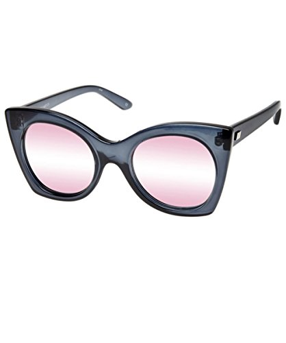 Le Specs Women's Savanna Mirrored Sunglasses, Slate/Peach Revo, One - Specs Mirrored Le Sunglasses