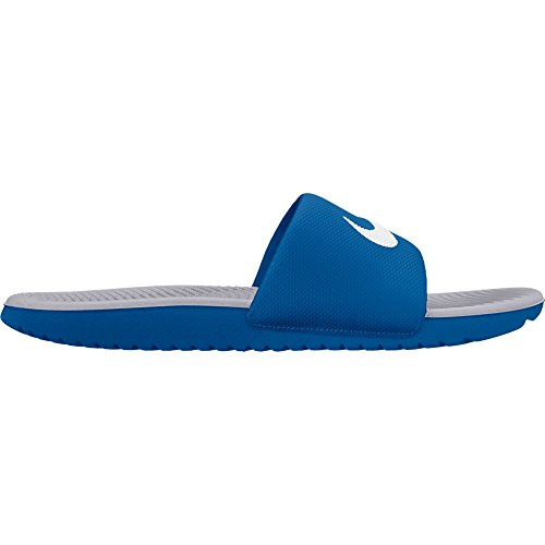 NIKE Mens Kawa Slide Athletic Sandal Blue Jay/White/Wolf Grey PE6fD0Mq