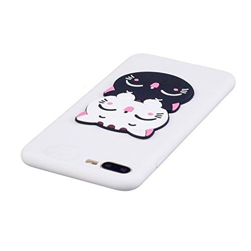 iPhone 7 / 8 Plus Coque Case , Mode 3D Lovely Cat Ultra-mince Soft Poids Léger Silicone Doux TPU Étanche Aux Chocs Housse Gel Etui Case Cover pour Apple iPhone 7 / 8 Plus