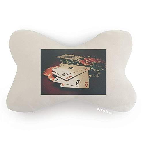 DIYthinker Card Poker Chips Gambling Photo Car Neck Pillow Headrest Support Cushion Pad by DIYthinker