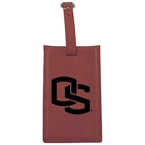 オレゴン州状態大学 – Leatherette Luggage tag-burgundy B013VZ271K