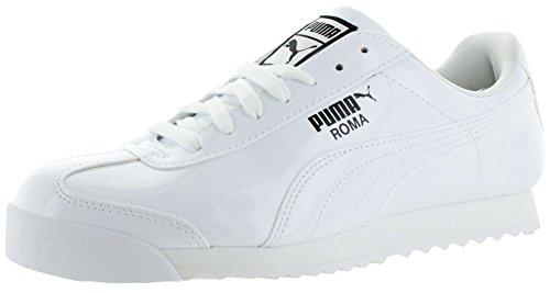 Las zapatillas de deporte de patente Puma Roma bianco nero