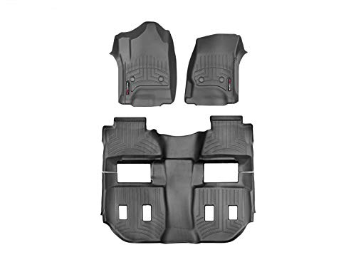 WeatherTech Custom Fit FloorLiner for Cadillac Escalade ESV - 1st, 2nd, 3rd Row (Black)