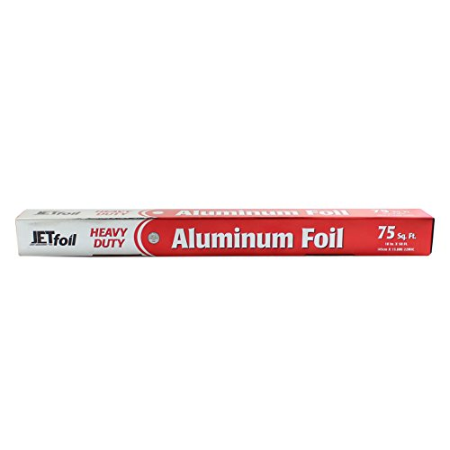Heavy Duty Large Alominum Foil Roll 75 Sq Ft 18 Inch Wide Super Strength Great for BBQ Roasting Boiling Baking Smoking and All Kitchen Needs ()