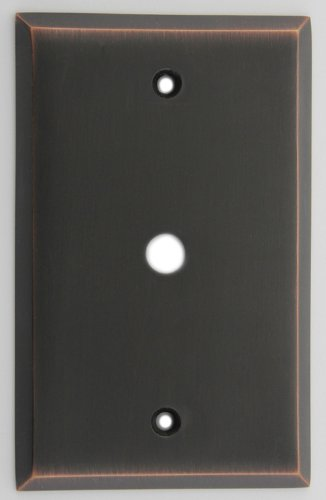 Oil Rubbed Bronze Cable Wall Plate