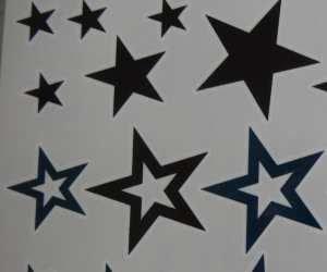 Tatuaje de estrellas negras y azules: Amazon.es: Belleza