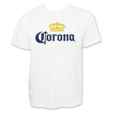 Corona Extra Men's Beer Logo T-Shirt Large White