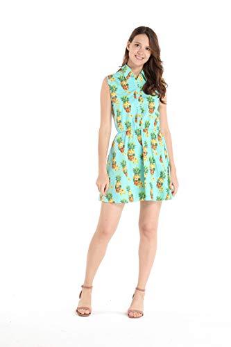 (Hawaii Hangover Women's Shirt Dress 2XL Halloween Pineapple Skull with)