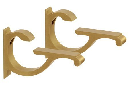 TroySys CC5BB Brushed Brass Designer Aluminum Shelf Brackets