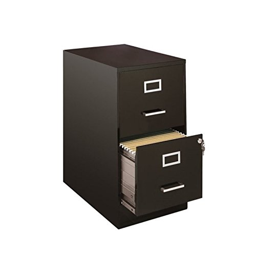 Pemberly Row 2 Drawer File Cabinet in Black ()