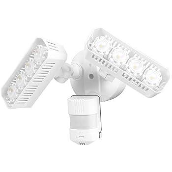 SANSI LED Security Lights, Motion Sensor Flood Light Outdoor, 36W (250W Equivalent) 3600lm, 5000K Daylight, Dusk to Dawn Waterproof, ETL Listed Floodlights, White