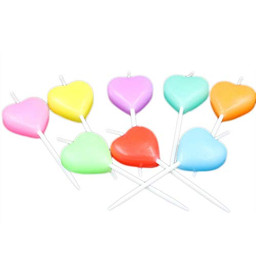 Leono 10 Pcs Festive Candle Heart-Shaped Creative Candles,Long-Lasting Burning,Used for Floating Candle Centers for Home Decoration,Table Center,Birthday Party,Christmas and Swimming Pool