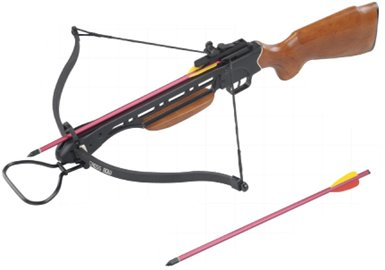 Last Punch 150 Lbs Wood Crossbow with 2 Arrows