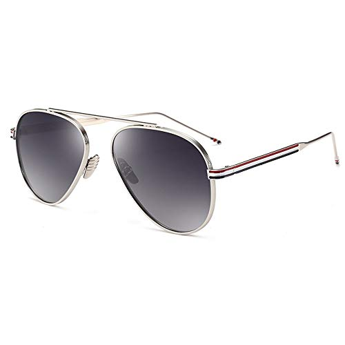 SSSX Men's Women's Sunglasses Retro Polarizer Reflective Mirror Driving Outdoor Sports Anti-UV Neutral Glasses (Color : Gray)