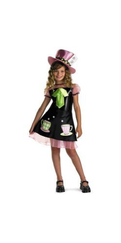 Cute Mad Hatter Costume For Girls (Mad Hatter Costume - Child Costume - Large (10-12) by Disguise)
