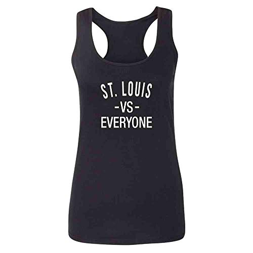 St Louis vs Everyone Sports Fan Black M Womens Tank Top