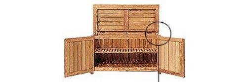 Grade-A Teak Wood Outdoor Patio Garden Chest Storage Cabinet