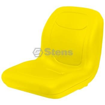 Stens 420-179 High Back Seat, Used with John Deere Mowers and Tractors, waterproof vinyl, central drain, replaces John Deere: AM133476, VG11696, 18-5/8