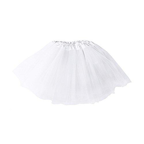 Adult Ballet Tutu Layered Clubwear Skirt Dance Party Dress (White)