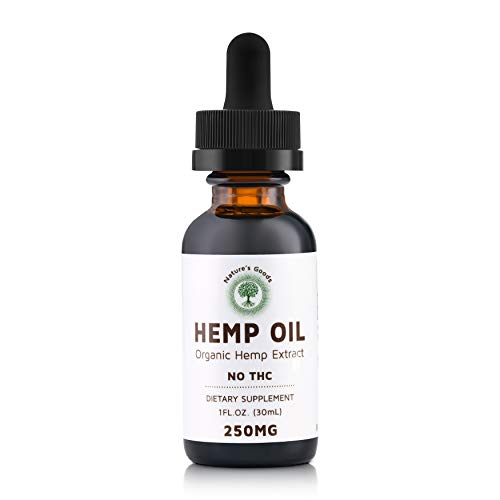 Organic Hemp Oil Drops 250MG - Anti-Inflammatory Pain Relief, Anti-Anxiety, Stress Relief, Joint Support, Sleep Aid, Rich in Omega 3 & 6, 1 FL OZ. (30ML).