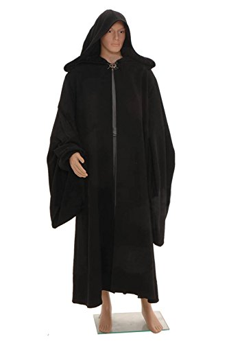 Wolfbar Darth Sidious Emperor Palpatine Robe Cloak Black Outfit Cosplay Costume X-Large (Palpatine Darth Sidious)