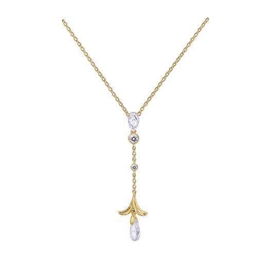 Nicole Miller New York Briolette Tear Drop Linear Pendant Necklace