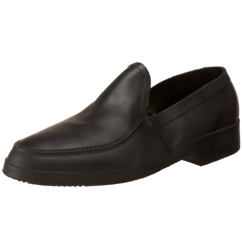 Tingley Men's Moccasin Overshoe,Black,M(8.5-10 US Men's) (Overshoe Rubber Mens)