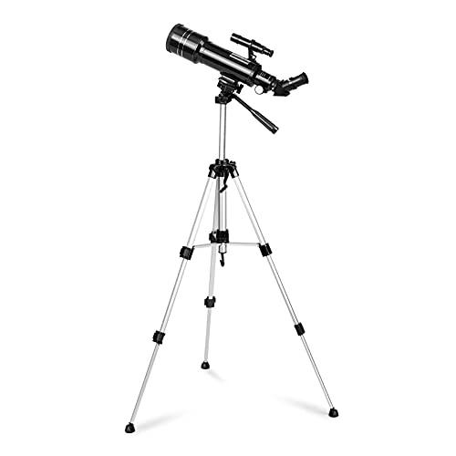 Telescopio refractor 70/400 con adaptador de smartphone para observación de tierra y cielo
