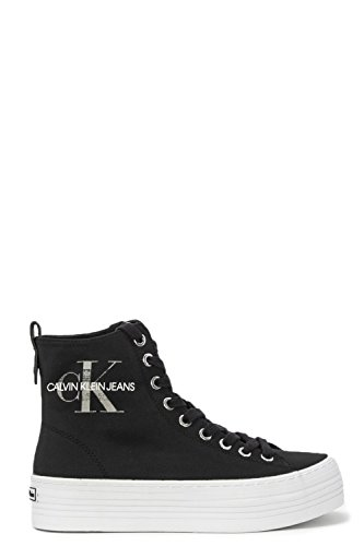 Sneaker Donna Nero Alto A Collo Calvin Klein Nylon Zazah tqw6xn1FS