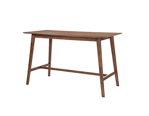 Emerald Home Furnishings D550-14 Simplicity Gathering Height Dining Table, Standard, Walnut Brown
