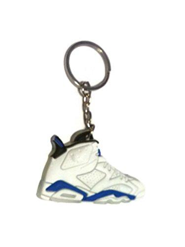 DarrellsWorld Air Jordan Shoe Key Ring Generation 6 VI White & Blue