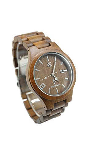 Wooden Wrist Watch for Men and Women - Koa Wood/Sapphire Crystal Dial Window/Analog Citizen Movement/Wood Watch Band/Includes Logo Stamped Box (Dial Eco Friendly Diamond)