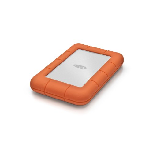 LaCie Rugged Mini 2TB External Hard Drive Portable HDD - USB 3.0 USB 2.0 compatible, Drop Shock Dust Rain Resistant Shuttle Drive, for Mac and PC Computer Desktop Workstation PC Laptop (LAC9000298)