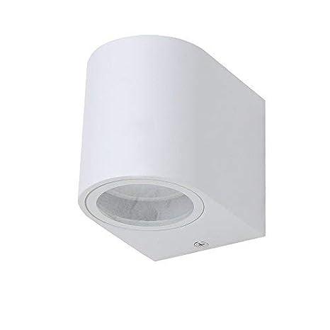 led-außenwandfluter Blanco Lámpara de pared 2x5w Proyectores IP44 Reflector de pared Downlight lámpara exterior de pared Modern LAMP exterior incl. Bombilla ...