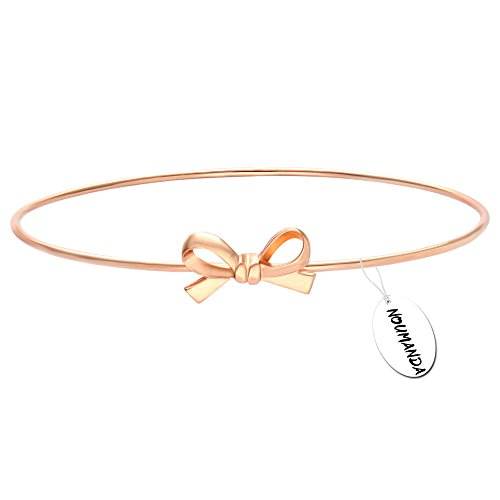 Bow Bracelet (NOUMANDA Fashion Exquisite Bowknot Bangle Bracelet for Women Friendship Gifts)