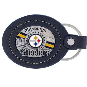 Siskiyou Pittsburgh Steelers Leather Key Ring