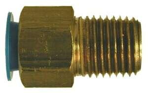 (Midland 10-441 Brass SAE 45 Degree Female Flare Adapter Fitting, 1/4