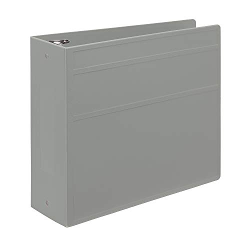 Carstens 4- Inch Heavy Duty 3-Ring Binder – Side Opening, Ash Gray