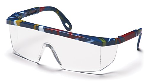 Pyramex Integra Safety Eyewear, Clear Lens With Mixed Blue F