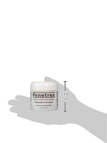 Penetrex Pain Relief Cream [4 Oz] :: 100% Guaranteed – Preferred by Sufferers of Tennis Elbow, Tendonitis, Bursitis, Knee & Shoulder Pain, Neuropathy, Shin Splints, Sore Muscles & Joints, etc