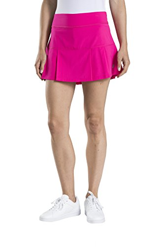 Prince Women's Stretch Woven Pleated Tennis Skort, Cosmos Pink, Large (Court Womens Skirt)