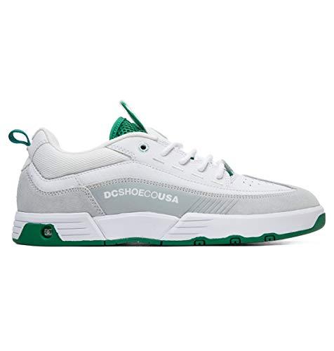 DC Mens Legacy 98 Slim S White White Green Shoes Size 14