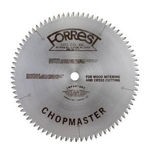 (Forrest CM10806105 Chopmaster 10-Inch 80 Tooth ATBR Miter and Radial Saw Blade with 5/8-Inch Arbor)
