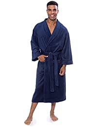 Men's Luxury Terry Cloth Bathrobe - Soft Spa Robe by...
