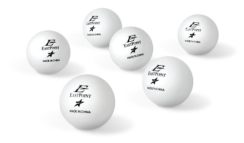 EastPoint Sports 40mm 1-Star Table Tennis Balls White (6-Pack) 1-1-19241